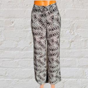 NWT Vince Camuto leopard print wide leg pants sz 2